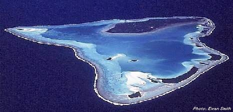 Aitutaki from the air
