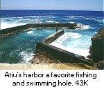 Atiu harbor breakwater