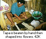 Beating tapa by hand