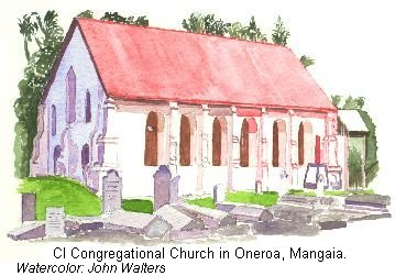 CICC church in Oneroa, Mangaia